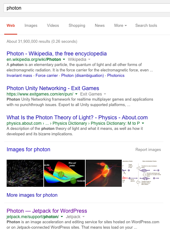 Photon Search Results